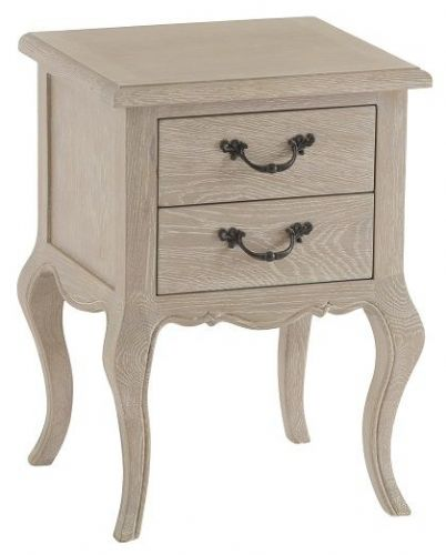 French Oak 2 Drawer Bedside